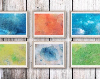 Composition of 6 paintings
