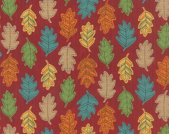 Moda Fabric  - Forest Fancy by Deb Strain - Berry Red - 19715 13 - Fall - Cotton fabric by the yard