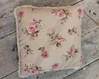 English floral cushion