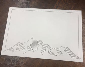 Modern Mountains Paper Placemats - Set of 25