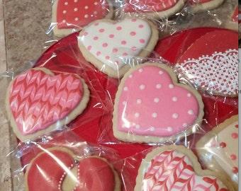 Valentines Sugar Cookies Hearts