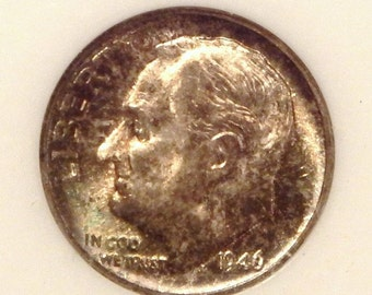 1946S Roosevelt Dime NGC MS66