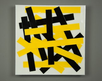 Yellow Black Abstract Painting, Abstract Painting, Acrylic Painting, Colorful Art, Yellow Painting, Colorful painting