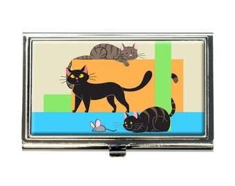 Cat Caboodle Business Credit Card Holder Case