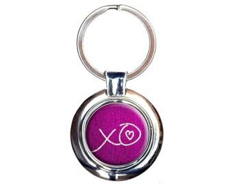 Xo Hugs Kisses Love Keychain Key Ring