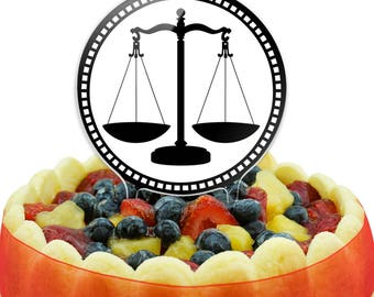 Scales Of Justice Cake Top Topper