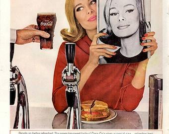 1964 Coca-Cola Soda Pop Original Food And Drink Print Ad