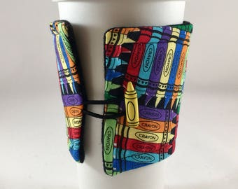 Teacher Insulated Fabric Cup Cozy, Teacher, Teacher Gift, Teacher Appreciation Gift, Fabric Cup Sleeve, Insulated Cup Cozy, Coffee Sleeve