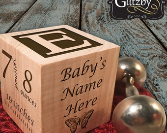 Baby Gift ideas Newborn Baby Gift Personalized Baby Gift Newborn Gift Baby Block Personalized Baby Block