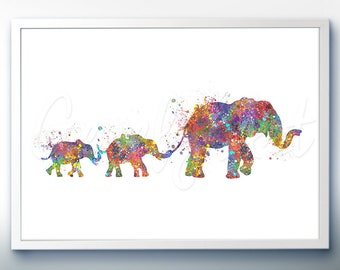 Elephant family painting - photo#28