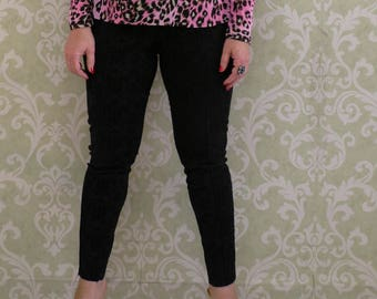 PDF pants sewing pattern,video, sizes 42-52 and step-by-step video sewing tutorial,pdf skinny leg pants pattern.