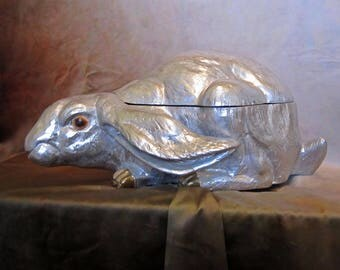 Spectacular rare very large Arthur Court rabbit tureen