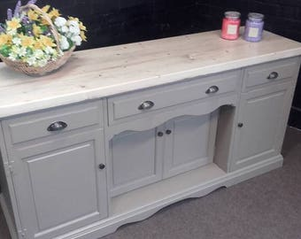 SOLD Sideboard- Kitchen Unit - Reclaimed wood - Shabby Chic- Beige Eggshell