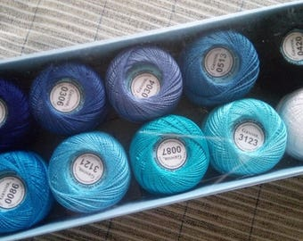 "100% Mercerized Cotton Yarn Thread ""Gamma Crochet Embroidering Set 10sks 10g"