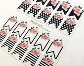 Black and White Floral flags | Stickers