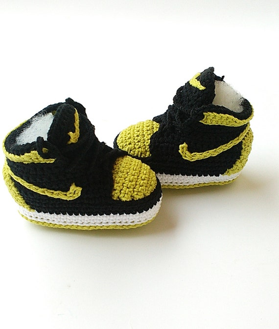 be211f8a84add Crochet baby Air Jordan Jordan baby shoes Crochet slippers hot sale ...