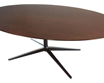"Florence Knoll 78"" Walnut Oval Table, 1972"