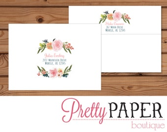 Floral Baby Shower - Printed Envelope - A7