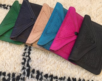 Moroccan leather wallet/purse