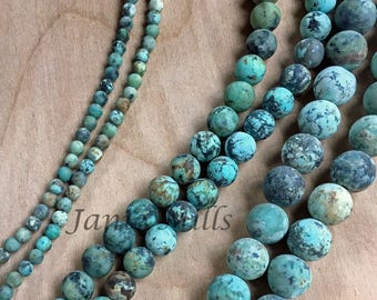 Turquoise African beads pkg of 10