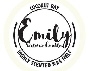 Coconut Bay Highly Scented Long Lasting Wax Melt / Tart / Candle