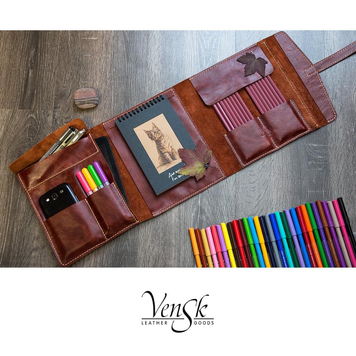 Creative Sketchbook Covers ~ Handmade leather moleskine sketchbook big cover