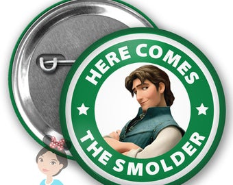 Tangled Flynn Rider Inspired Park Button