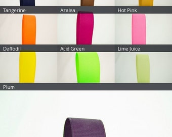 Ribbon Bazaar Solid Grosgrain Ribbon 1/4 inch 50 yards 100% Polyester