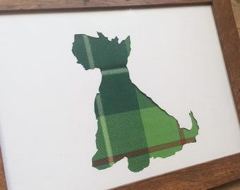 Tartan Scottie Dog  Silhouette - Choose from over 400+ Tartans