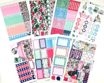 Lady of Leisure // Weekly Planner Stickers Kit