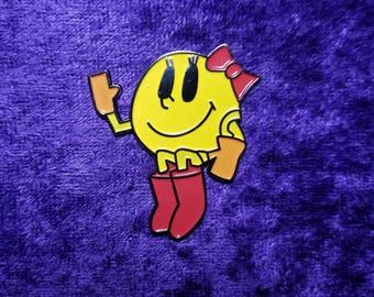 Ms Pac Man Hat Pin