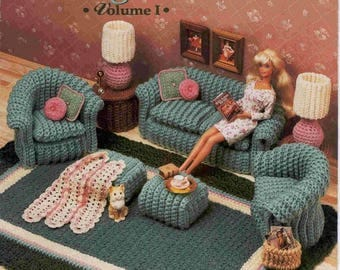 318. Classic Living room Barbie fashion doll furniture pattern