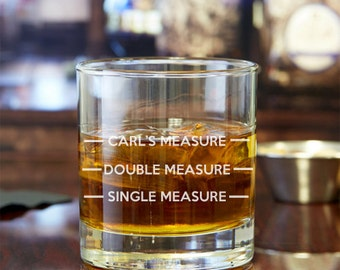 Measure My Drink Personalized Rocks Glasses  - Engraved Whiskey Glasses - JM5714378-14-RCK10OZ