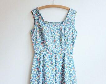 Vintage hippie floral boho romantic dress tunic s xs