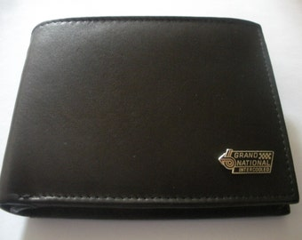 Buick Grand National Men's Italian Leather Bifold Wallet