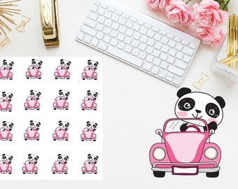 car trip Panda Planner stickers
