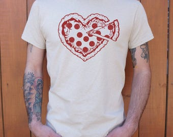 Men and guys handmade pizza T-shirt