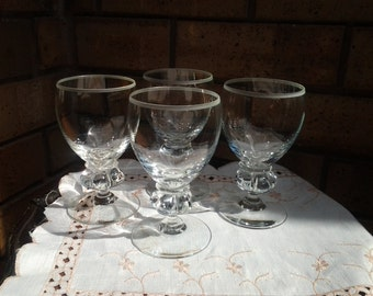 20% off Crystal Wine Glasses - Set of Four - Extremely comfortable to hold- Gift for him