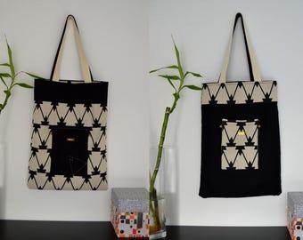 Tote Bag Reversible DIAZON - Bag - purse - tote bag in fabric tippi