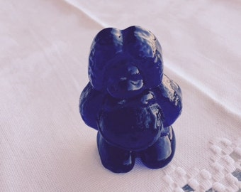 Vintage Bergdala Cobalt  Blue Glass  Baby Troll Paperweight  REDUCED SHIPPING