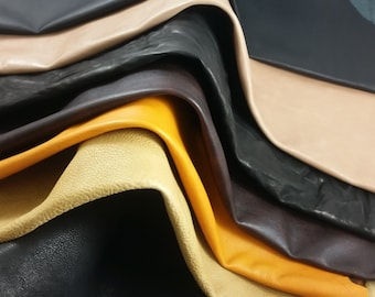 SPORTIVE PACK. 7 Leather hides with various finishings as sportive, oily, crumpled and wrinkled. A95