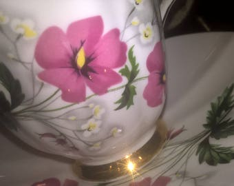 Vintage tea cup and saucer by Royal Adderley