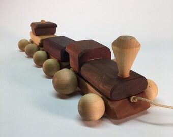Handmade 1989 wooden train