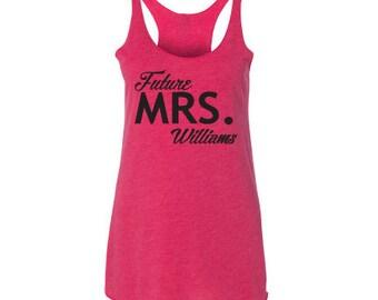 Racerback Tank, bride to be gift, bridesmaid gifts, bachelorette party shirt, bridesmaid shirt, custom shirt, custom tank top, bride tank