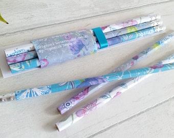 Pencil gift set, featuring my original watercolour design 'Joy'