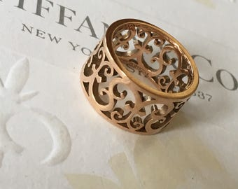 Excellent Authentic Tiffany & Co. Rubedo Metal Enchant Ring #4.25 RP550USD