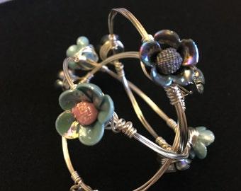 Flower Wire Bangles