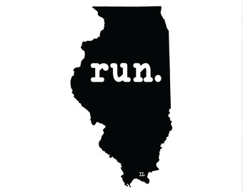 Run IL State Outline Magnet