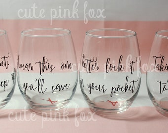 PLL Theme Song Wine Glasses
