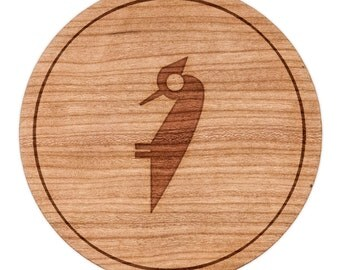 "Woodpecker Circle Magnet, Round Magnet, 2"" Refrigerator Magnet"
